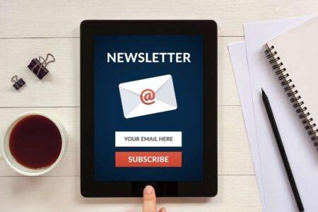tips voor een nieuwsbrief